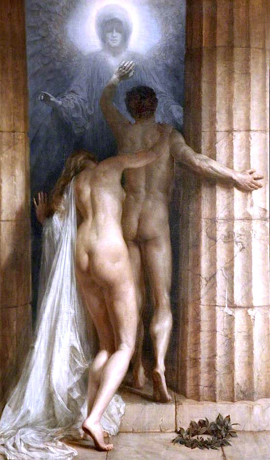 Till Death Do Us Part   Sigismund Christian Hubert Goetze   oil painting