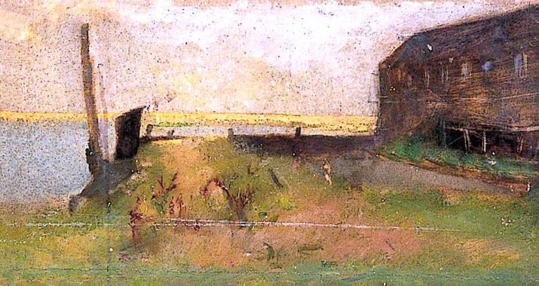 Ballys Old Shipyard | Alma Gogin | oil painting