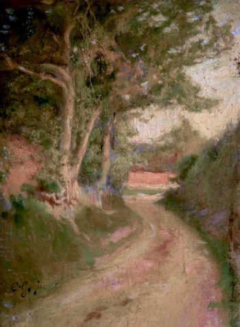 A Sussex Lane | Charles Gogin | oil painting