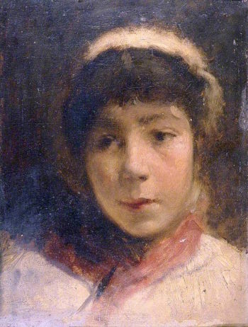 Girl in A White Cap | Charles Gogin | oil painting