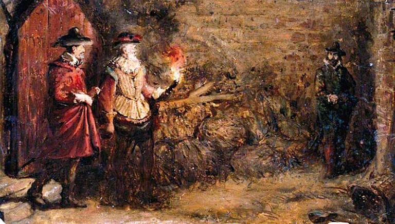 Guy Fawkes   Charles Gogin   oil painting