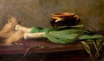 Leeks | Charles Gogin | oil painting