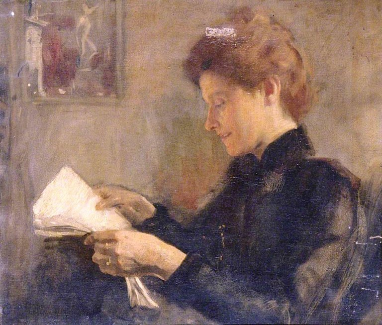 My Wife Reading | Charles Gogin | oil painting