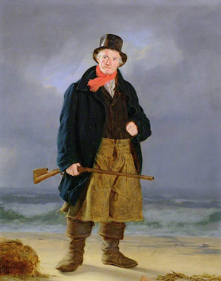 A Fisherman with a Gun | Thomas Sword Good | oil painting