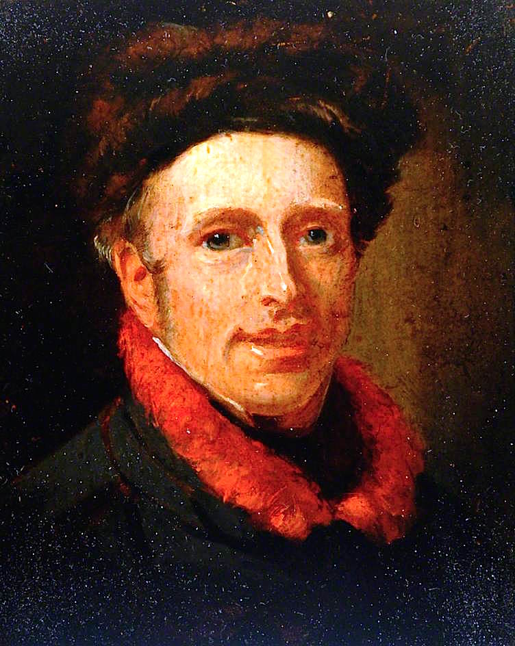 Portrait of a Man with a Red Scarf | Thomas Sword Good | oil painting
