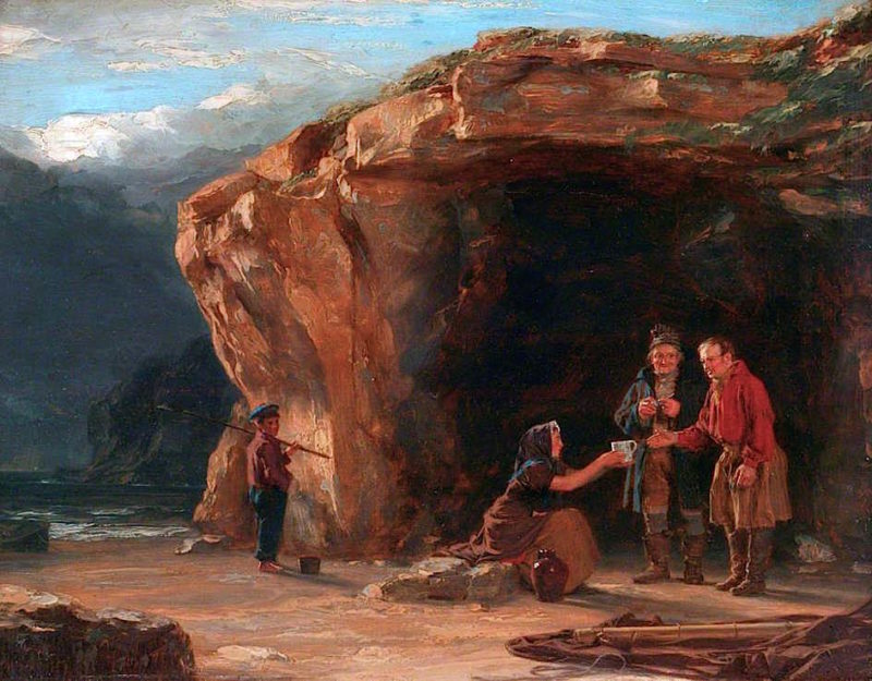 Scotch Fishermen | Thomas Sword Good | oil painting