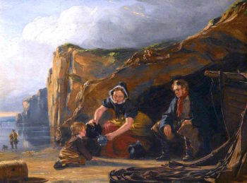 Shore Scene with Figures | Thomas Sword Good | oil painting