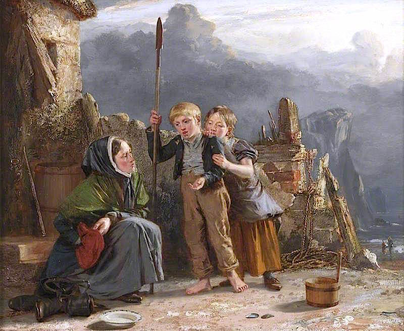 The Expected Penny | Thomas Sword Good | oil painting