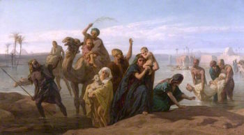 The Rising of the Nile | Frederick Goodall | oil painting