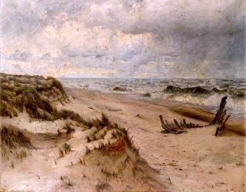 On the Norfolk Coast | Thomas Frederick Goodall | oil painting