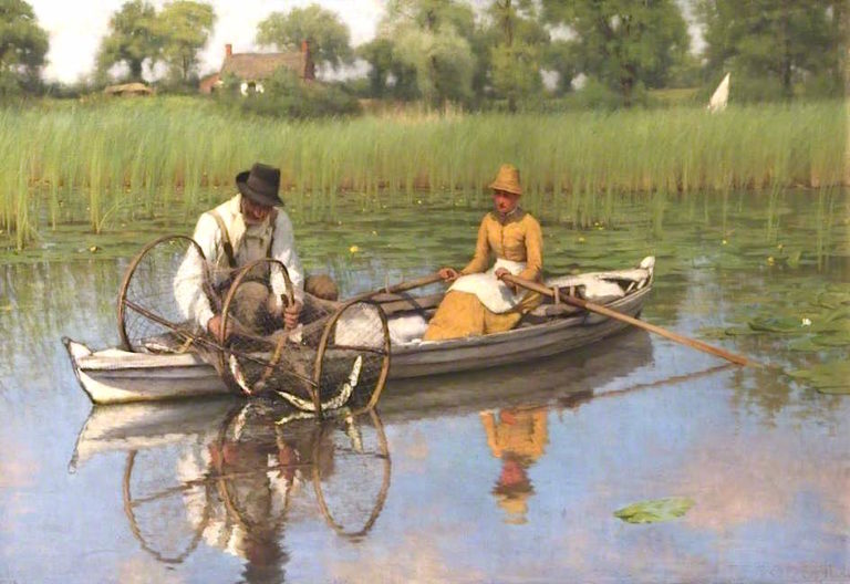The Bow Net | Thomas Frederick Goodall | oil painting
