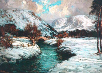 Borrowdale in Winter | Robert Gwelo Goodman | oil painting