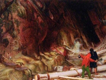 Scene from The Tempest | Albert Goodwin | oil painting