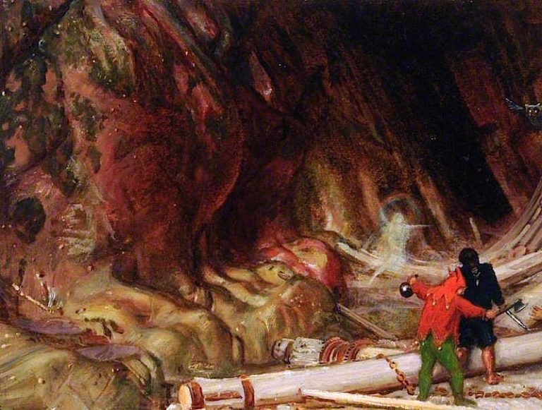 Scene from The Tempest   Albert Goodwin   oil painting
