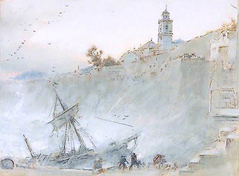 Shipwreck | Albert Goodwin | oil painting