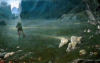 Sinbad in the Valley of Diamonds | Albert Goodwin | oil painting