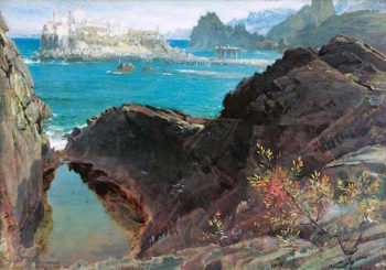 The Castle of Enchantments | Albert Goodwin | oil painting