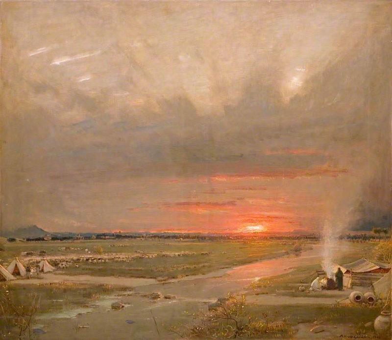 The City of Glittering Light   Albert Goodwin   oil painting