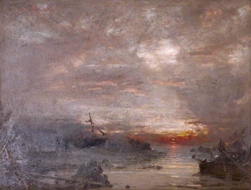The Invincible Armada   Albert Goodwin   oil painting
