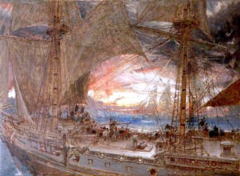 The Phantom Ship | Albert Goodwin | oil painting