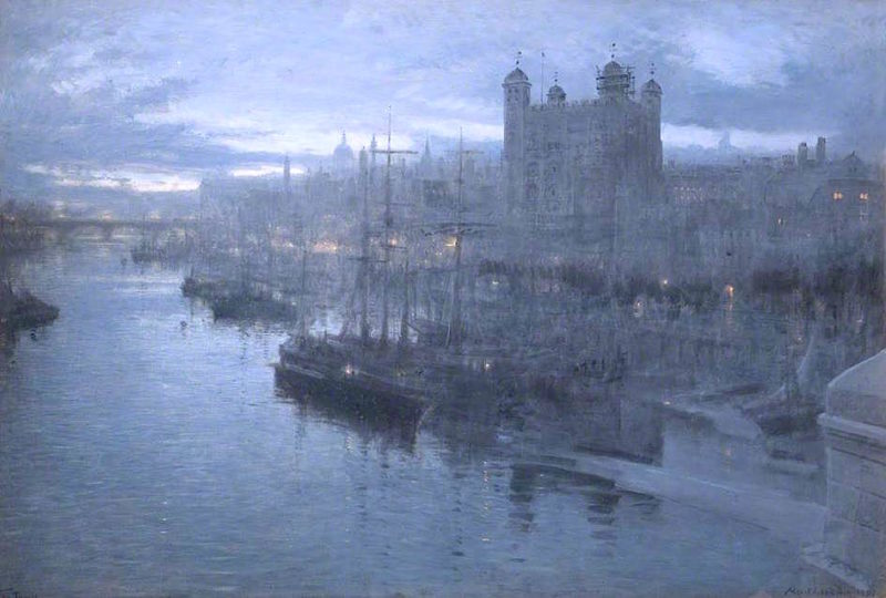 The Tower of London   Albert Goodwin   oil painting