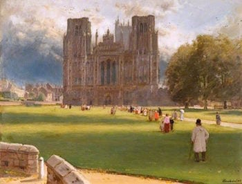 Wells Cathedral | Albert Goodwin | oil painting