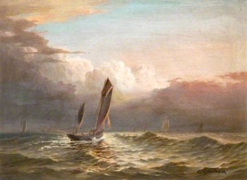 Fishing Boats at Sea | George Goodwin | oil painting
