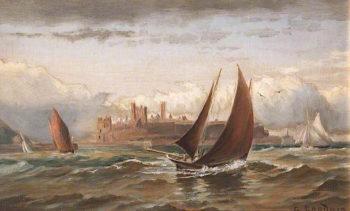 Peel Castle | George Goodwin | oil painting