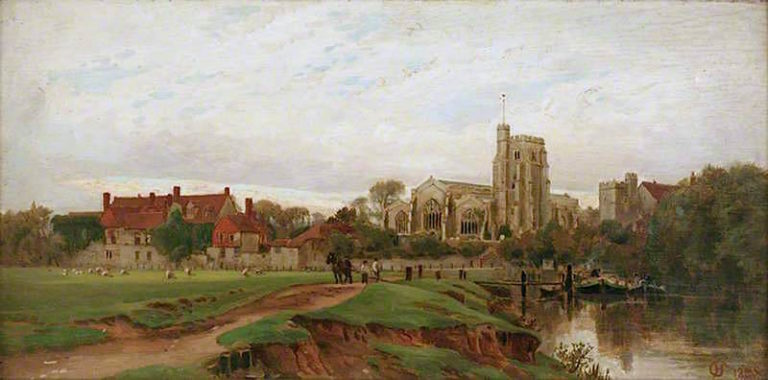Archbishops Palace and All Saints Church   Harry Goodwin   oil painting