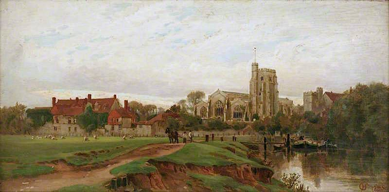 Archbishops Palace and All Saints Church | Harry Goodwin | oil painting