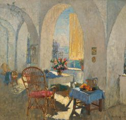 A Sunny Terrace | Konstantin Gorbatov | oil painting