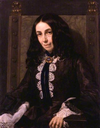 Elizabeth Barrett Browning | Michele Gordigiani | oil painting