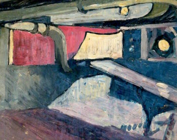 First World War -  A Mess Table Fitted as an Inclined Plane for Sliding Stretchers   Jan (Godfrey Jervis Gordon   oil painting