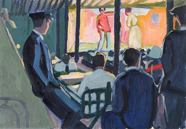 First World War -  Wounded Sailors Watching a Play   Jan (Godfrey Jervis Gordon   oil painting