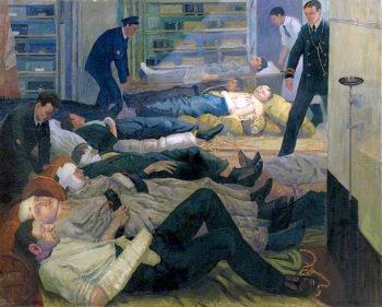 HMS Castor -  Wounded