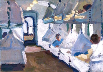 Interior of a Naval Ambulance Train | Jan (Godfrey Jervis Gordon | oil painting