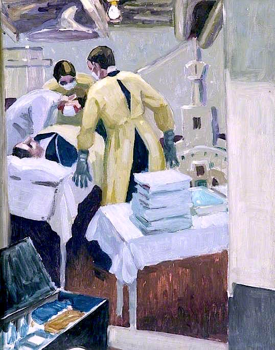 The Dressing Station in a Man - of - War | Jan (Godfrey Jervis Gordon | oil painting