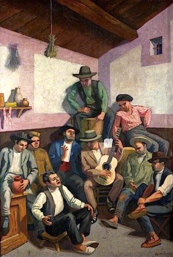 The Gipsy Singer | Jan (Godfrey Jervis Gordon | oil painting