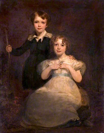 A Boy and a Girl | Sir John Watson Gordon | oil painting