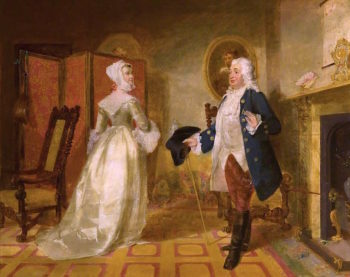 The Laird of Cockpen and Mistress Jean   Sir John Watson Gordon   oil painting