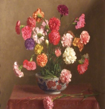 Carnations | Thomas Cooper Gotch | oil painting