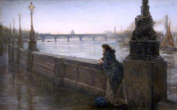 Alone in London | Thomas Alexander Ferguson Graham | oil painting