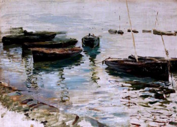 Boats in a Harbour | Thomas Alexander Ferguson Graham | oil painting