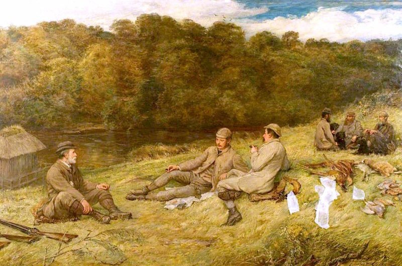 Hunting Party at Stobhall in the Carse of Gowrie | Thomas Alexander Ferguson Graham | oil painting
