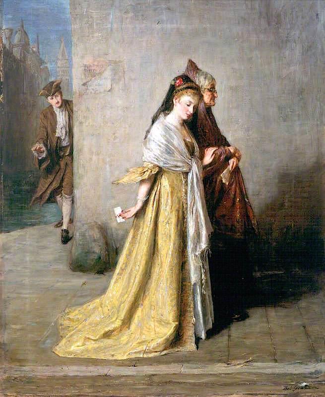 The Billet - Doux | Thomas Alexander Ferguson Graham | oil painting