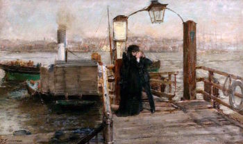 The Landing Stage | Thomas Alexander Ferguson Graham | oil painting