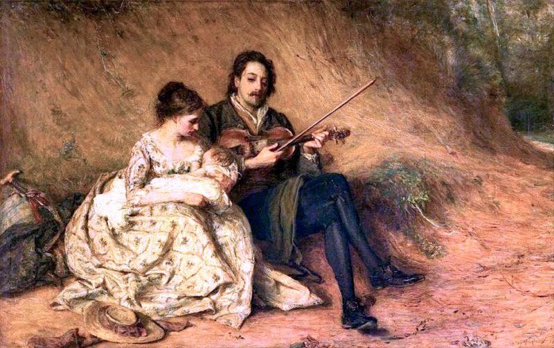 The Wayfarers   Thomas Alexander Ferguson Graham   oil painting