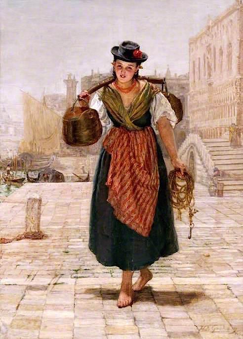 Venetian Water Girl | Thomas Alexander Ferguson Graham | oil painting