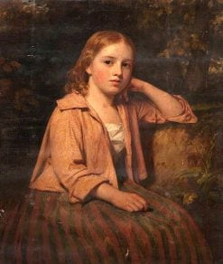 A Country Maid | John Graham-Gilbert | oil painting