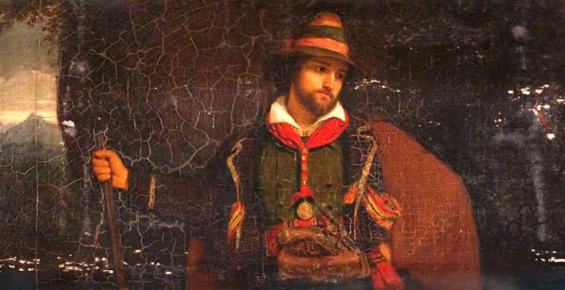 A Tyrolese Hunter | John Graham-Gilbert | oil painting